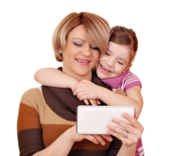 Mother and daughter with tablet 2