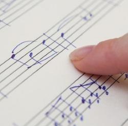 Finger on music i