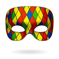 Mardi Gras Harlequin Mask i