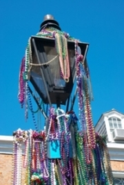 Mardi Gras Lamp Post i