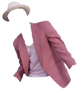 Pink Jacket and Crean Hat